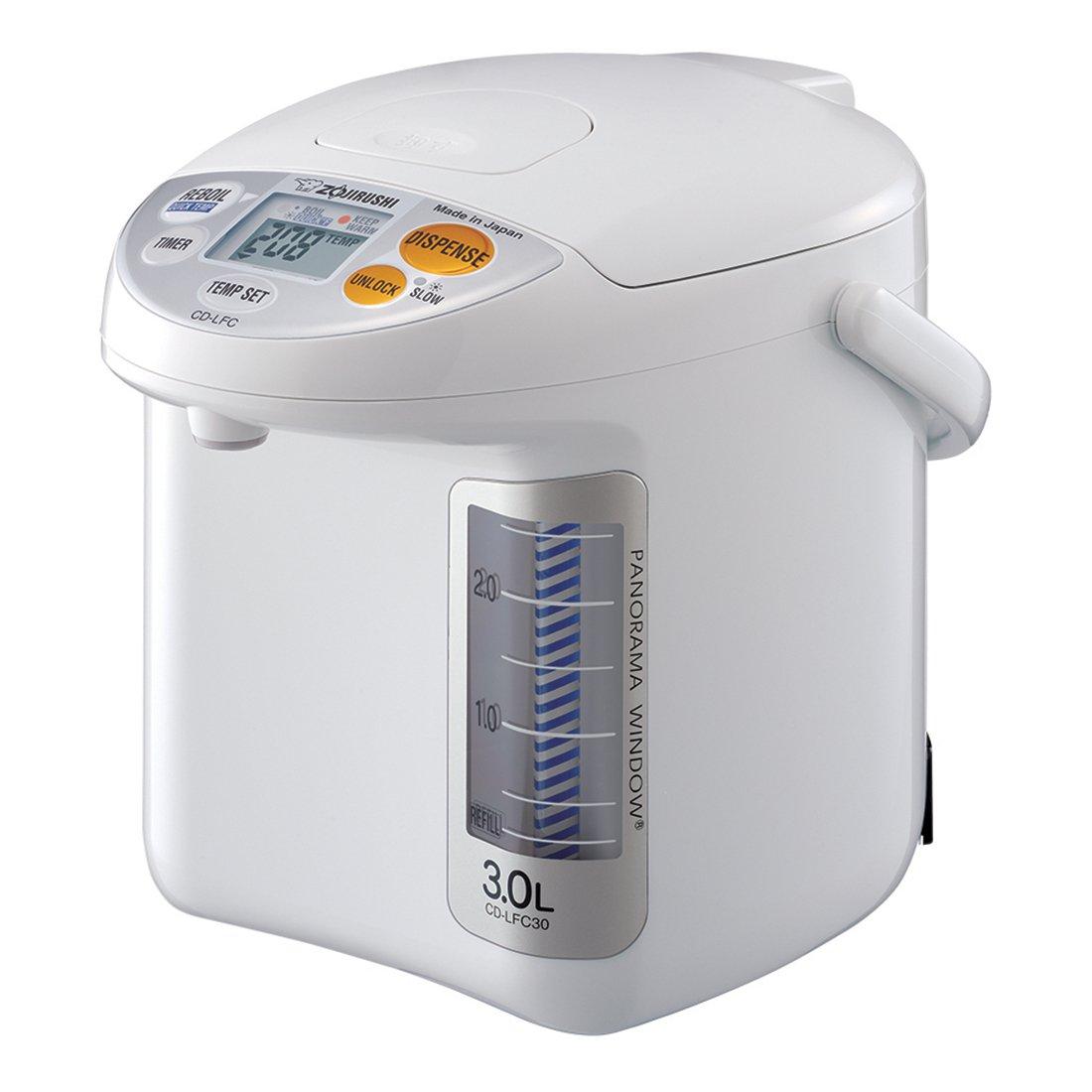Zojirushi CD-LFC30 Panorama Window Micom Water Boiler and Warmer, 101 oz/3.0 L, White