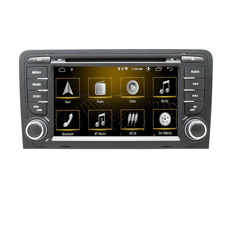 ZYCGOTEV Commercio All'ingrosso 2 Din Lettore Multimediale DVD Automotivo Radio Per Audi A3 8 P/A3 8P1 3-door hatchback/S3 8 P/RS3 Sportback