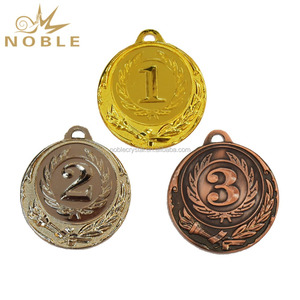Number Running Gold Metal Medal for Champion