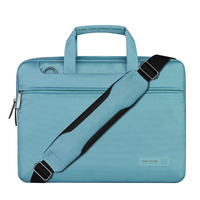 Nylon cross shoulder laptop bag cover for rain with trolley strap