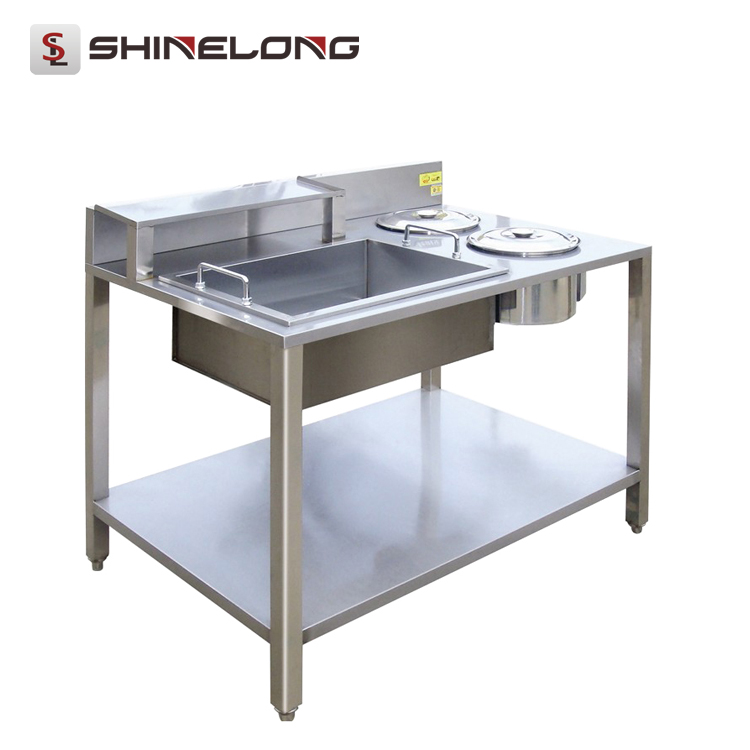 K359 Stainless Steel Wrapping Powder Chicken Breading Table