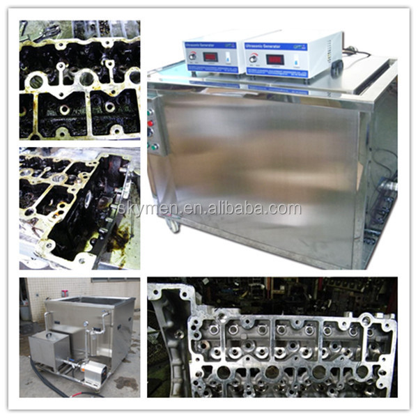 360L auto parts ultrasonic cleaner with oil filtration to recycle the solvent