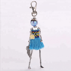 Explosion Doll baby Handmade Cute black keychain for Women Car Pendant hot Girl Statement fashion Jewelry Bag keychain