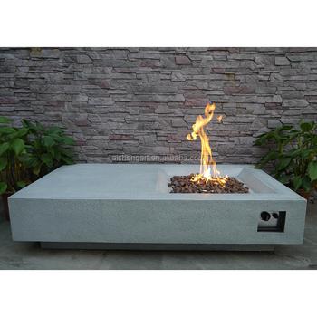 Verwonderlijk 56 Inch Beton Cast Outdoor Gas Vuurkorf Tafel - Buy Beton Cast Gas QY-01