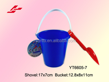 Yuantu Factory S Round Small Beach Bucket And Little Shovel Toys Set
