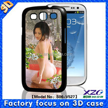 High quality wholesale 3D cell phone case for Samsung i9300 with 3D naked actor
