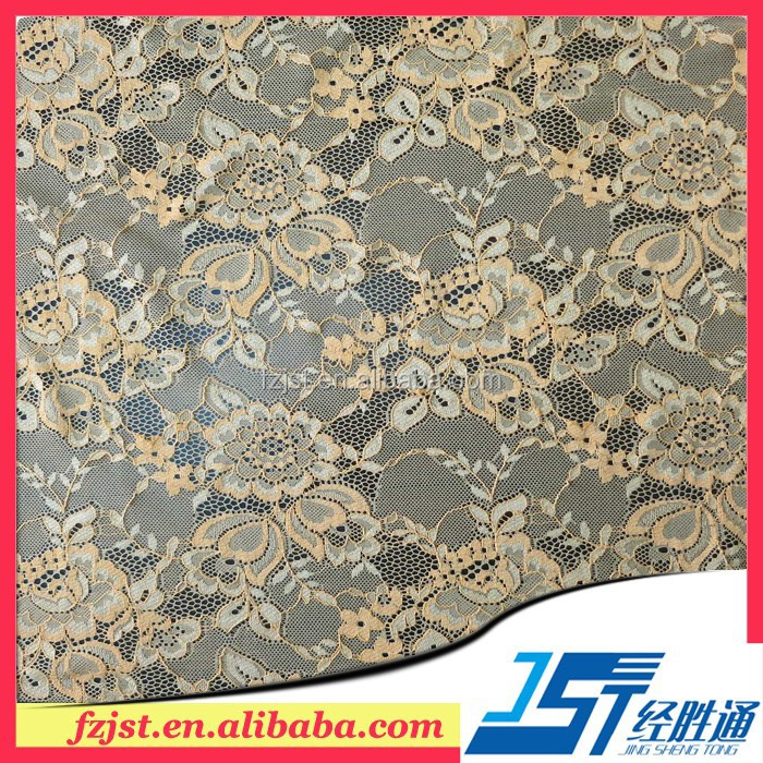 High Quality Water Lily Flower Design Fall Plate Nylon Lady Unbrella Lace Fabric