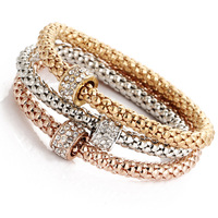 European style classic women accessories diamond bracelet charm