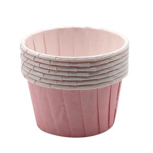 Disposable Printed Rolled Rim Cup Liners Paper Cupcake For Baking
