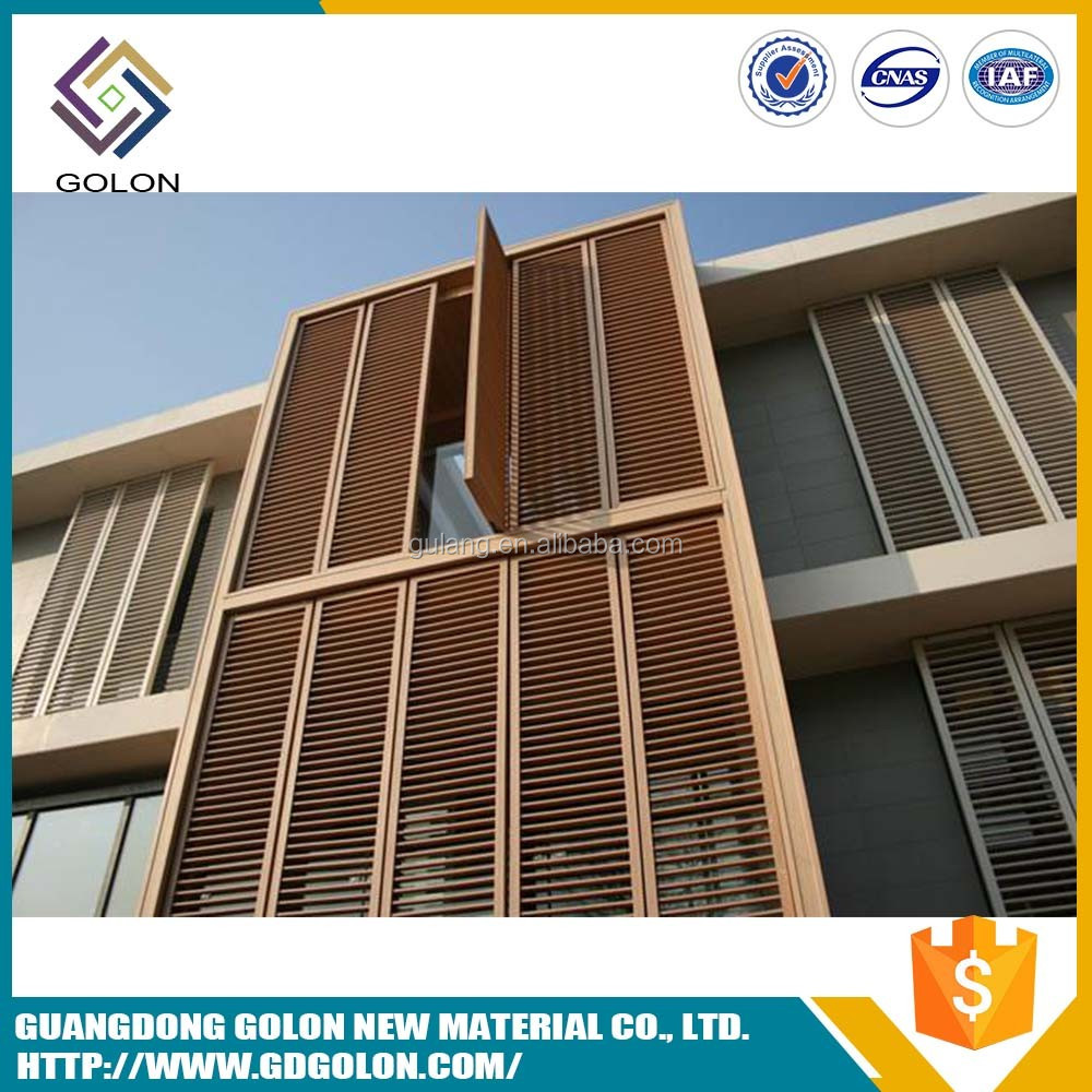 Excellent climate resistance decoration coated exterior window shutter