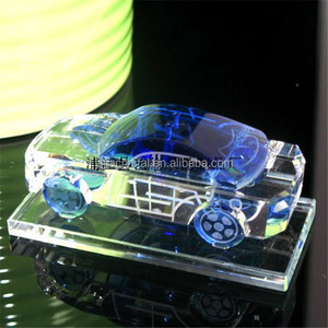 Crystal factory directly sale Christmas ornaments various crystal car models