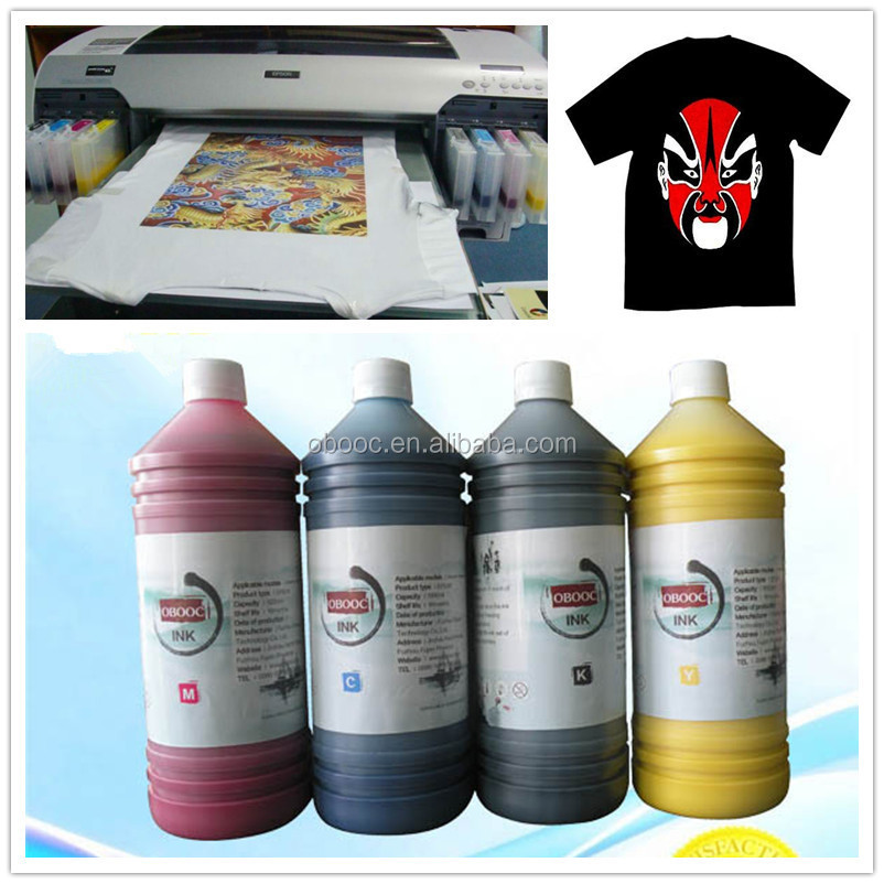 CMYK White Textile Ink Comparable with Dupont Ink Pretreatment DTG