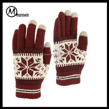 Morewin brand Amazon supplier Outdoor Men's/Women's Warm personalized Knit Winter Touchscreen Gloves