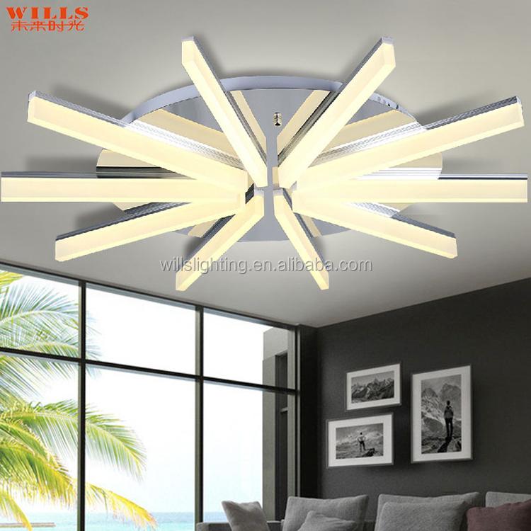 Modern Indoor Lighting Iron Acrylic Led Ceiling Lighting For Shops ...