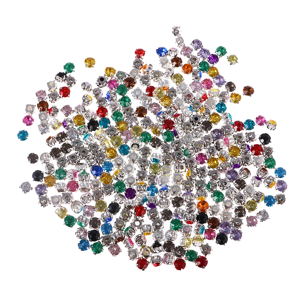 4fe54bef2f fityle 300 Pieces Sew On Diamante Crystals Acrylic Rhinestone Embellishment  DIY Craft Apparel Sewing & Fabric