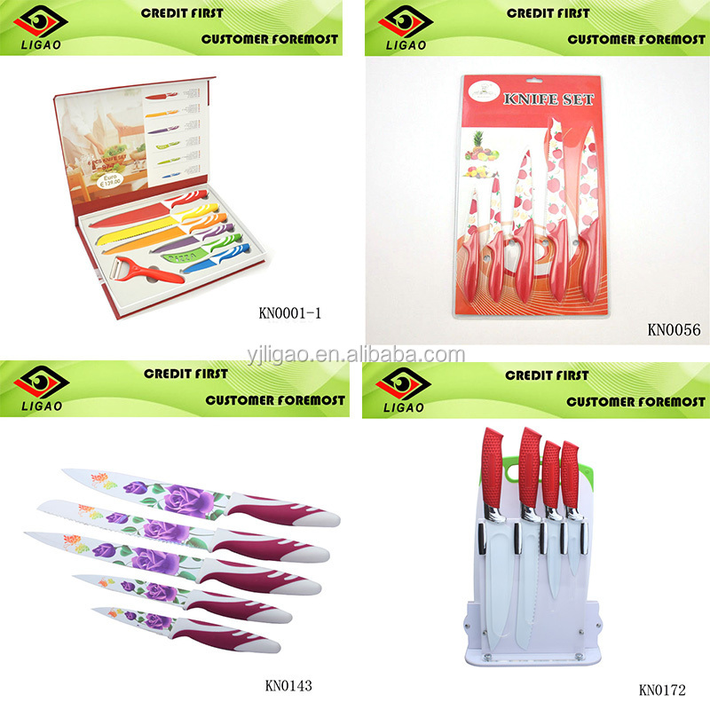 knife set kitchen with knife set colorful and fish knife