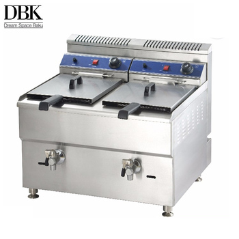 Restaurant 2 tanks 2 baskets Gas Chicken Pressure Commercial Deep Fryer