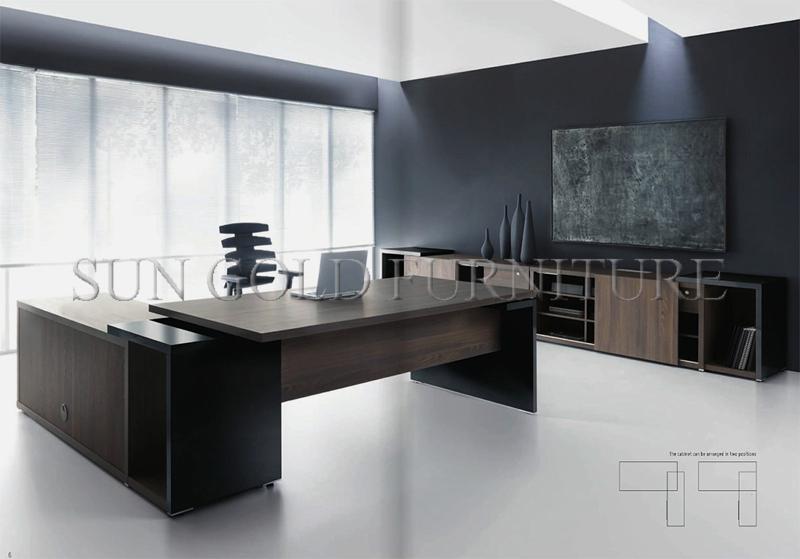 High Tech Modern Boss Veneer Painting Office Luxury Executive Desk  (SZ OD543)