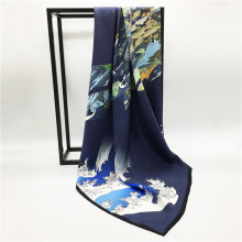Fashion Designs High End Digital Print Custom Silk Scarf