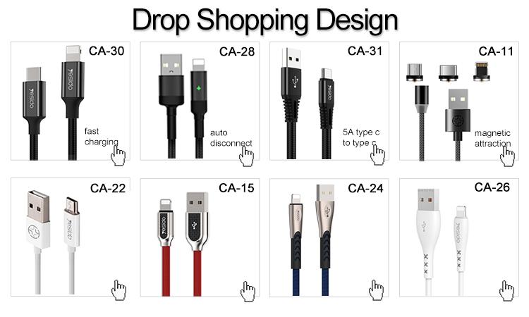1.2 メートルのナイロン編組 Qc 充電 Usb ケーブルライン高速充電 4A 5A タイプ C 電話データケーブル