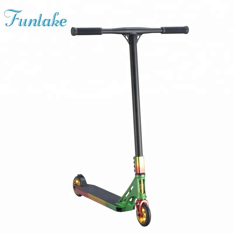 Professional custom design original unique foot jump extreme freestyle two wheel stunt bmx adult scooter