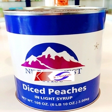 Peach halves in Light Syrup/manufacurers/since 1958y