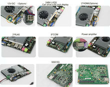 2 integrated ethernet ports motherboard Mini pc board motherboard with fan support intel core3 I5 processor