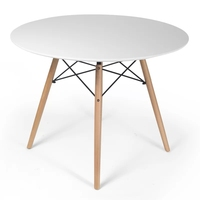 eiffel cross leg round dining table coffee table with solid wood legs