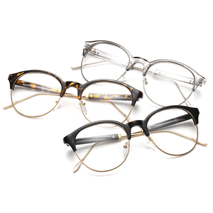 56dd53b254d Classic Retro Clear Lens Nerd Frames Glasses Fashion brand designer Men  Women Eyeglasses Vintage Half Metal