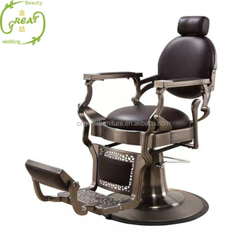 2019 hair salon supplier gold cheap used barber chair for sale