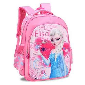 2018 professional manufacturer lovely school bag Frozen Elsa and Anna  printed
