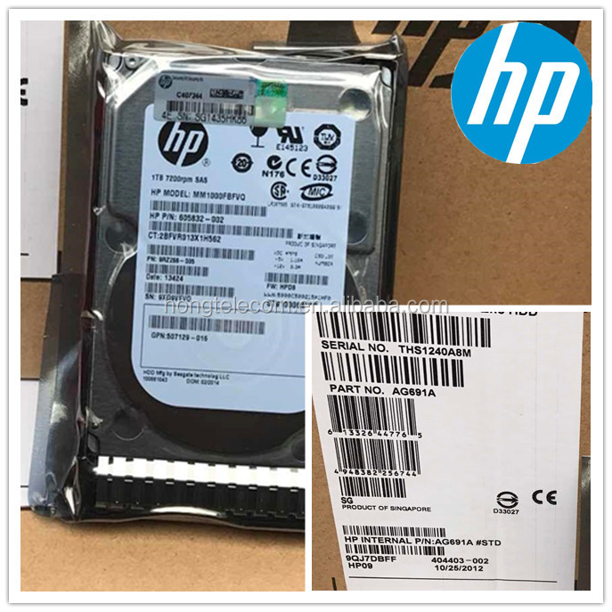 "815631-B21 Server Hard Drive 3.5 ""2TB 6G SATA Cooler for HP"