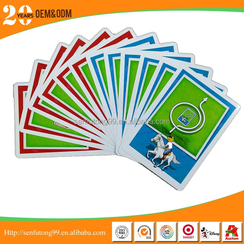 China supplier custom children play card games printing for fun