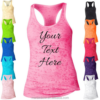 eb76f89716 2015 Most Popular Womens Personalized Racerback Burnout Tank Top Custom  Printed Loose Fit Workout Tank Top