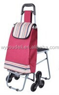 2014 hot sale easy 600D folding high quality golf trolley tyre,shopping cart with bag luggage and tea trolley