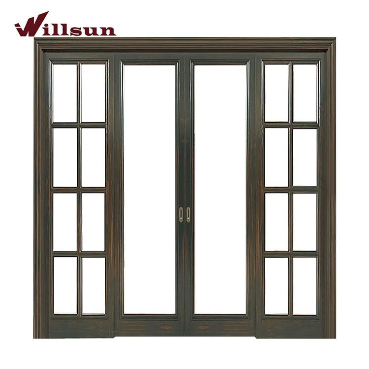 Heißer Verkauf Modernen Design Doppel Glas-Schiebe-Tür Aus Holz