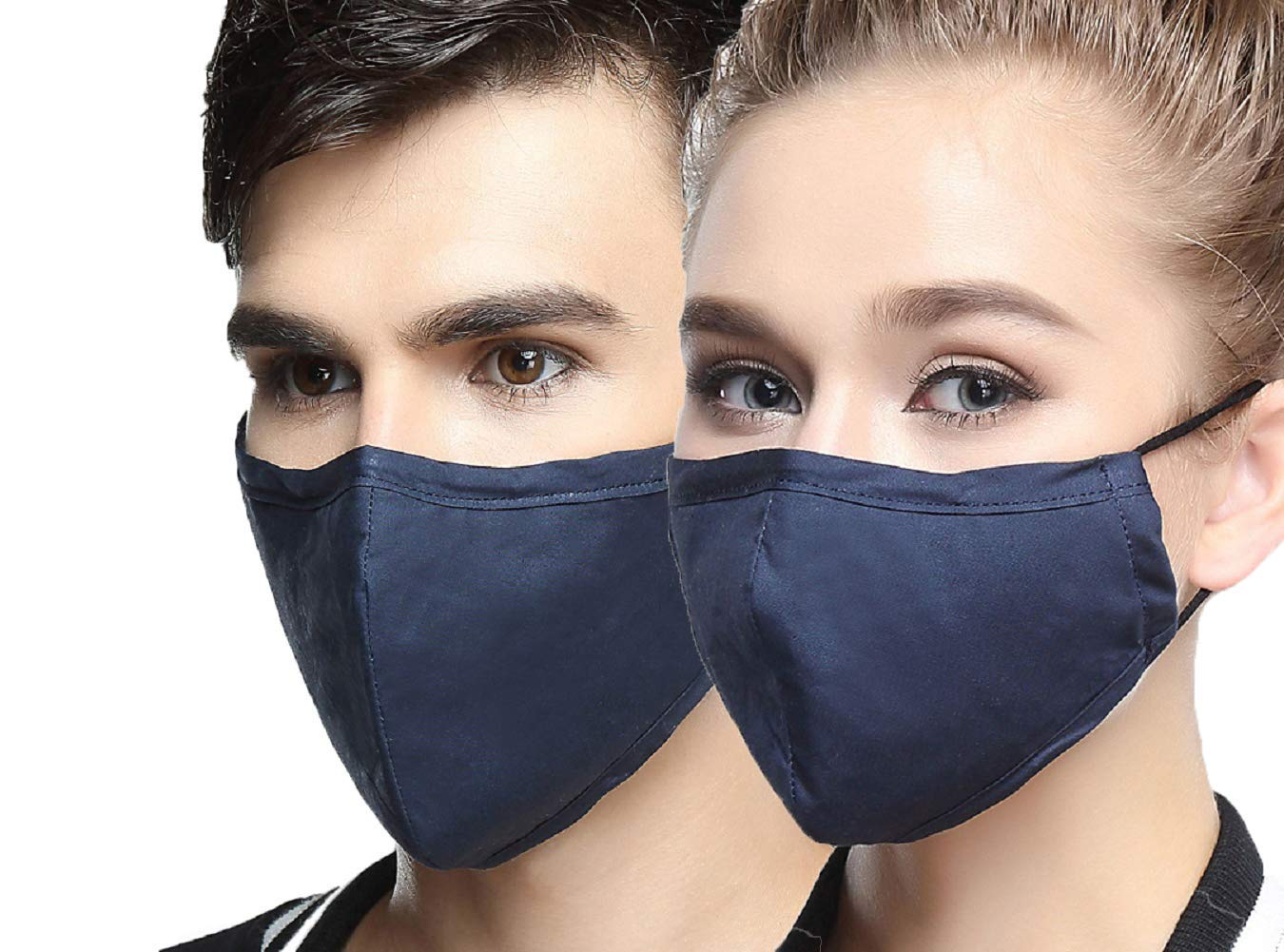 bc017b2c0d8 Get Quotations · AVIGOR N95 Dust Mask Anti Pollution Face Mask Washable  Antibacterial Cotton Mouth Mask (Blue)