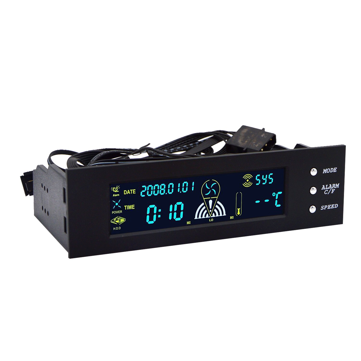 Cheap 6 Fan Controller Find Deals On Line At Diy Pwm For Or Pump Cases Power Supplies And Modding Get Quotations 525 Inch Speed Perrylee Pc Computer Temperature Front Panel Date