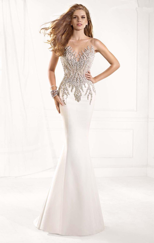 Aliexpress.com : Buy Elegant White Mermaid Long Prom ...