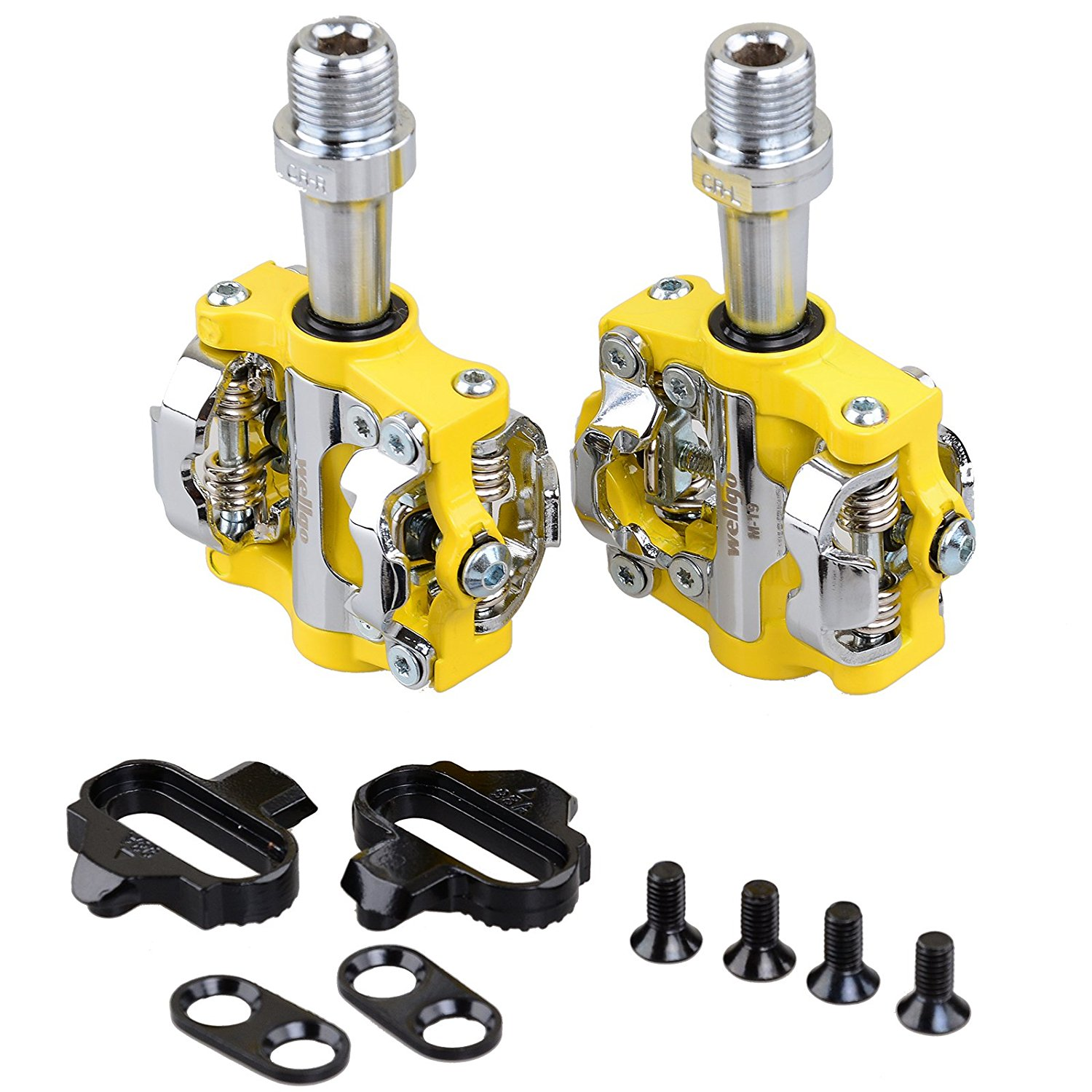 Wellgo MTB CR-MO SPD Clipless Pedals Mountain Bike Bicycle Cycling SPD Shoes Pedals & Cleats