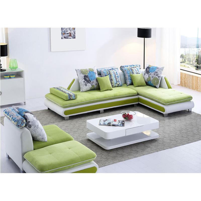 L Shaped Multiple Colors Sectional Sofa Set