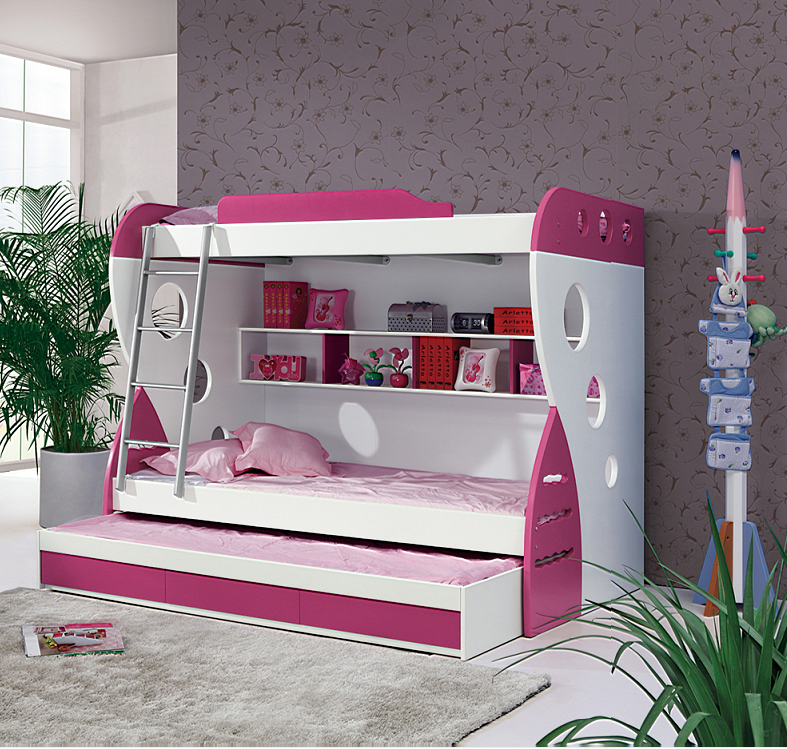 2016 barato cama doble moderna muebles de dormitorio Niños OEMCamas