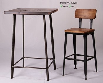 Triumph Solid wood seating Rustic finishing metal iron frame Industrial bar Stools Reclaimed Wood barstool  sc 1 st  Alibaba & Triumph Solid Wood Seating Rustic Finishing Metal Iron Frame ... islam-shia.org
