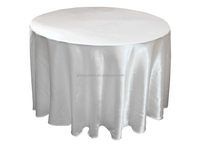 China white Polyester material Cheap Round White Tablecloth