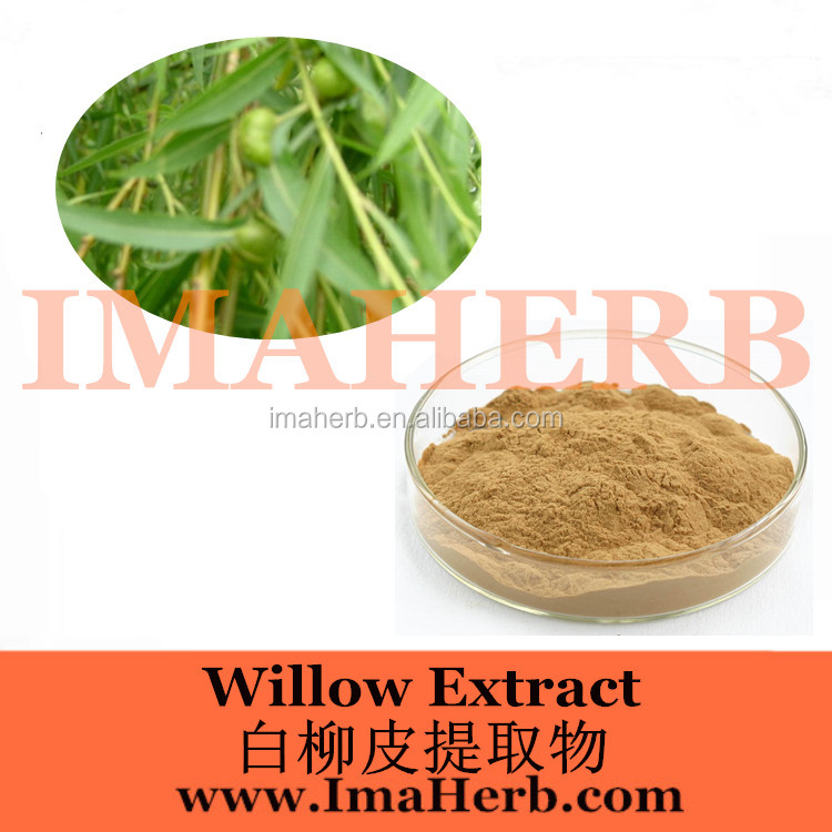 100% Nature GMP Factory 100% pure white willow bark extract/ salicin/ natural aspirin