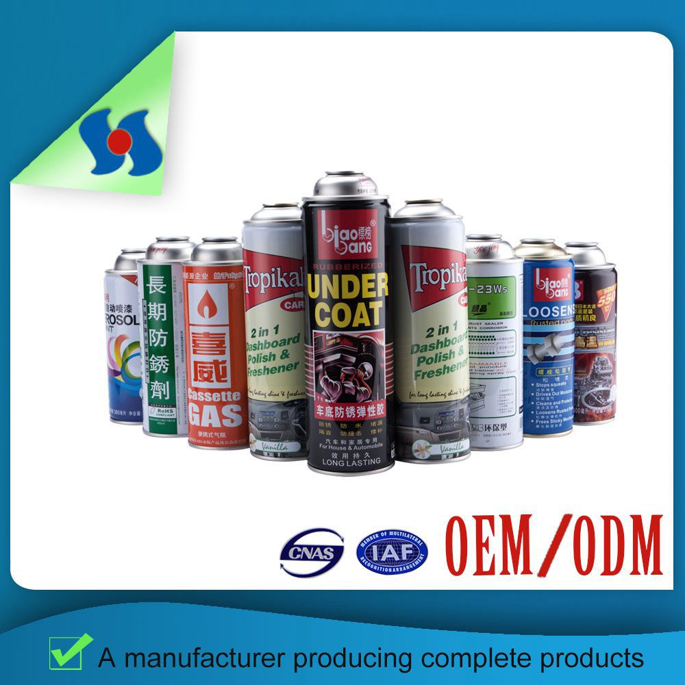 Retail Colorful Empty Fill Gas Aerosol Tin Can