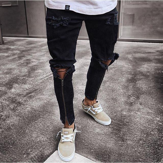 Pantalones Vaqueros Rasgados Negros Rotos Para Hombre Buy Los Hombres Pantalones Vaqueros De Los Hombres De Moda Vaqueros Para Hombre Denim Jeans Product On Alibaba Com