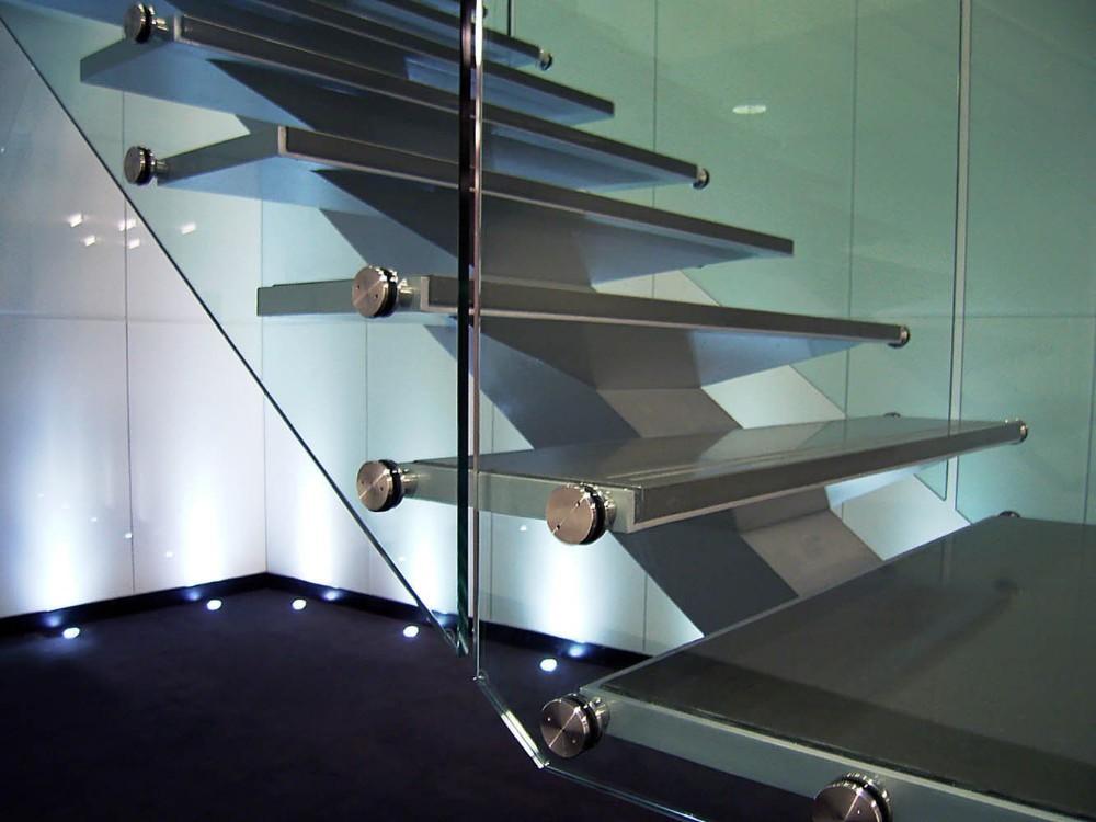 Moderne gebruikt metalen glas hout loft trappen buy gebruikt