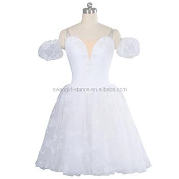 fd789a047b5 Filles romantique ballet tutu robe enfants blancs giselle longue robe tutu  ballerine performance costumes de scène