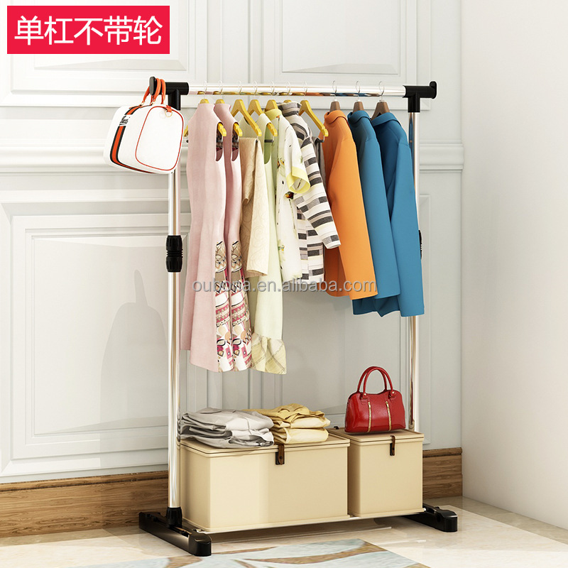 Adjule Rolling Folding Clothes Garment Hanging Rod Organizer Rack Product On Alibaba